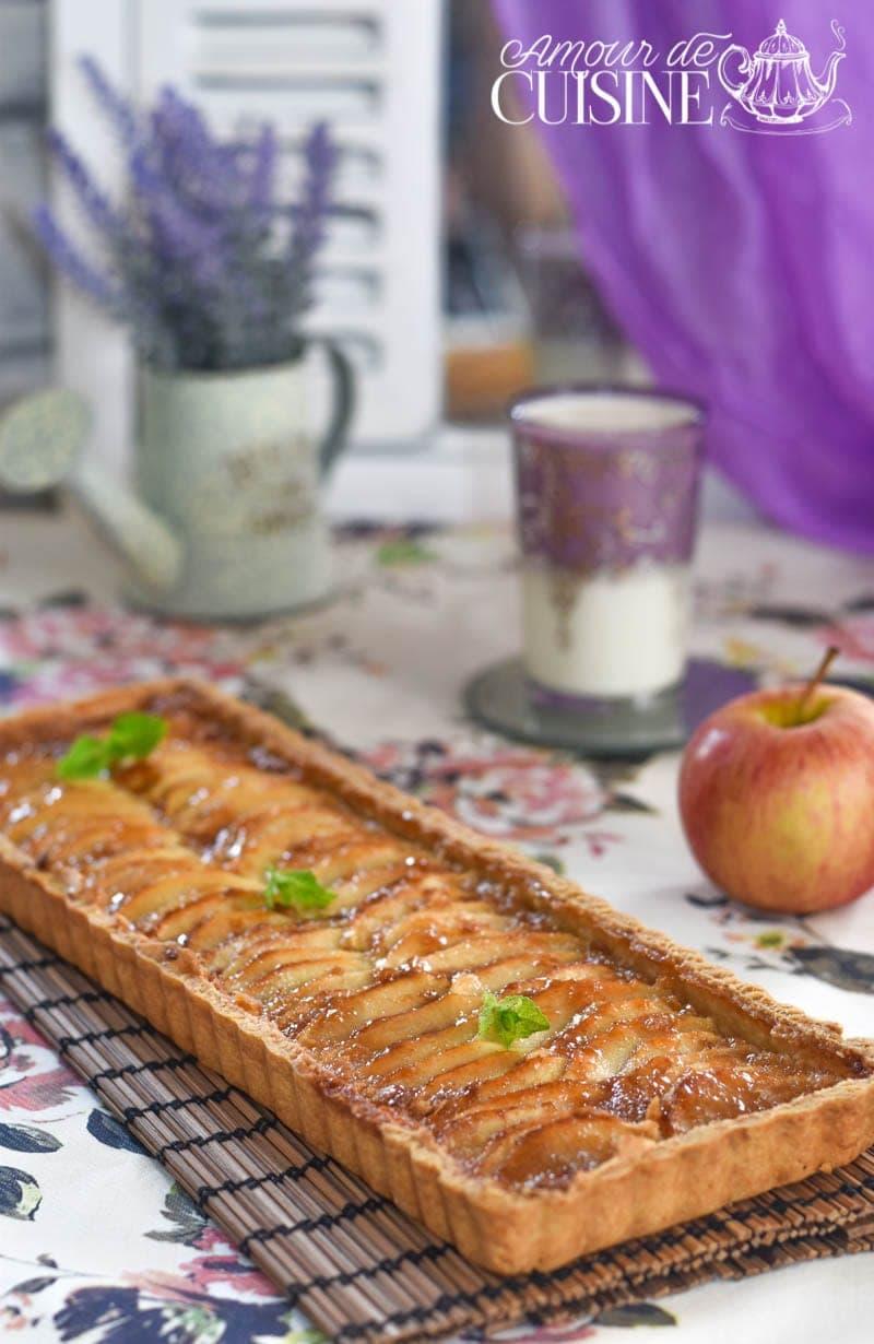 recette de la  tarte aux pommes au beurre 3