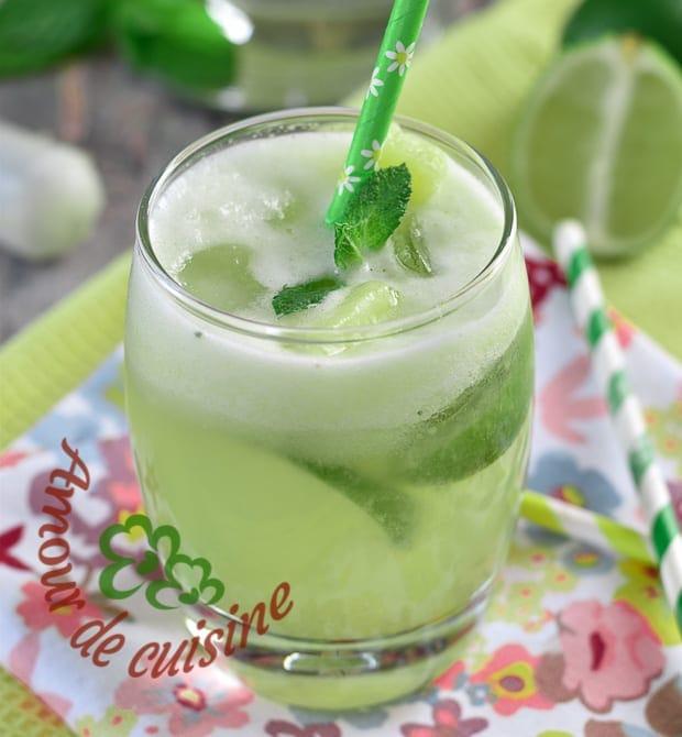 Mojito sans alcool cocktail menthe et citron vert amour for Alcool de menthe fait maison