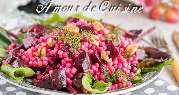 Salade de couscous perlé aux betteraves