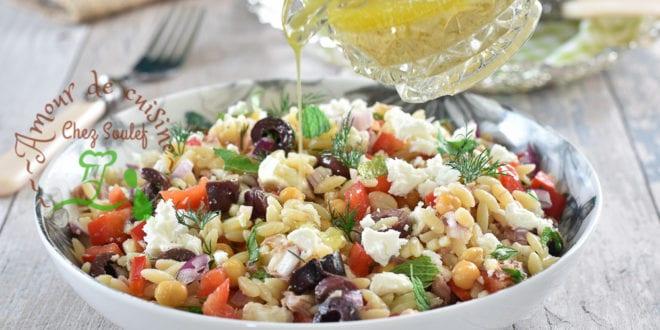 Salade d'orzo au féta