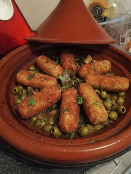 tajine de croquettes de poulet olive
