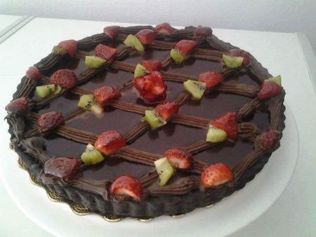 tarte chocolat et fraises saida