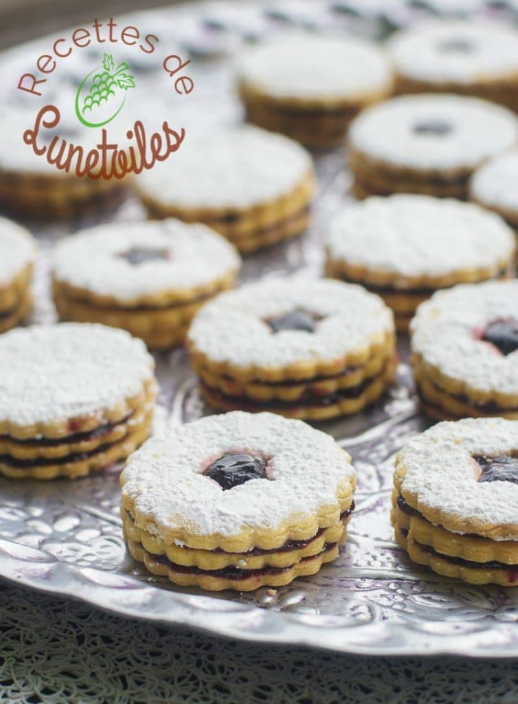 biscuits sablés friable double a la confiture 1