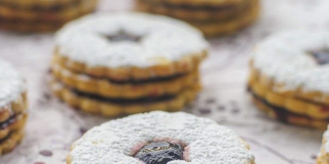 biscuits sablés friable double a la confiture
