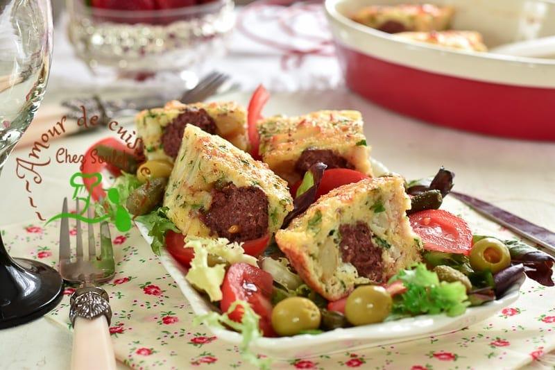 tajine tunisien aux boulettes de viande bnadèk 1