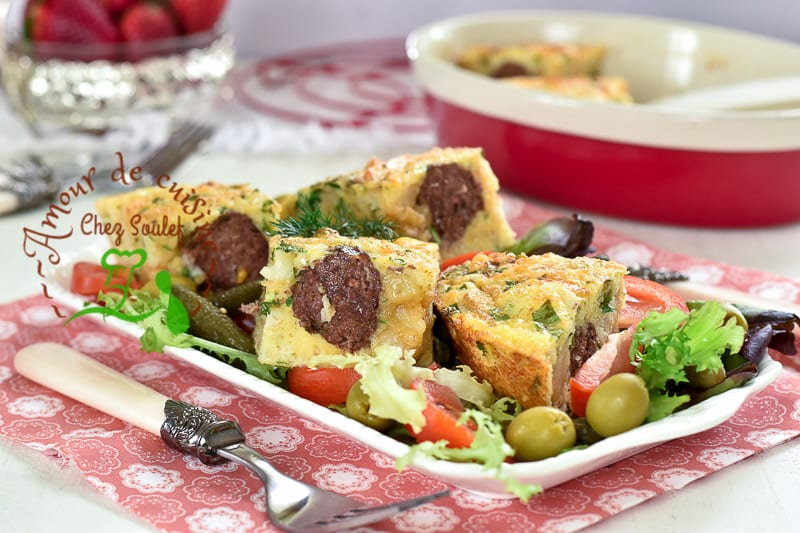tajine tunisien aux boulettes de viande bnadèk 2
