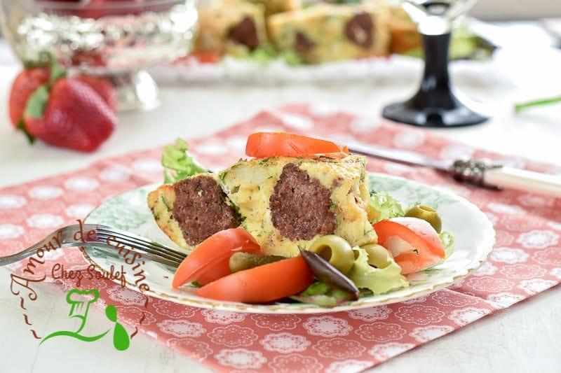 tajine tunisien aux boulettes de viande bnadèk 3