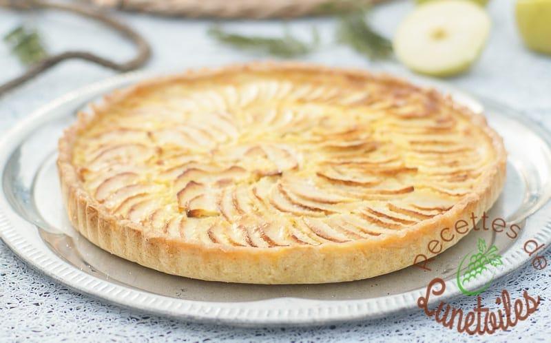 tarte aux pommes au mascarpone