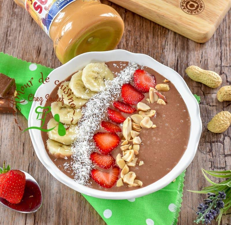smoothie bowl chocolat et beurre de cacahuetes 1