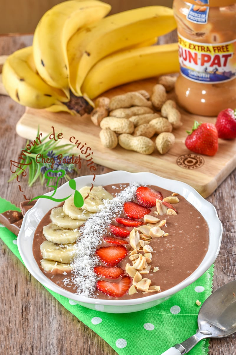 smoothie bowl chocolat et beurre de cacahuetes 2