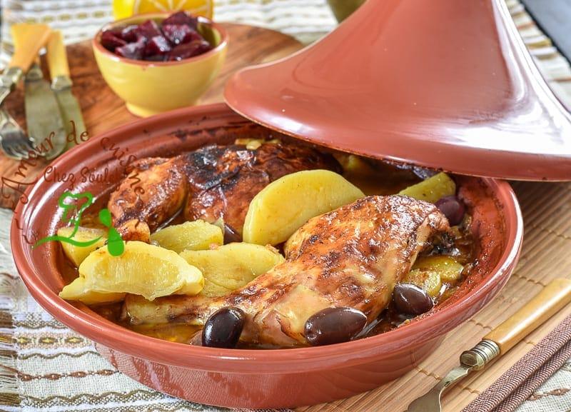 Tajine de poulet la pomme de terre amour de cuisine - Comment conserver des pommes de terre coupees ...