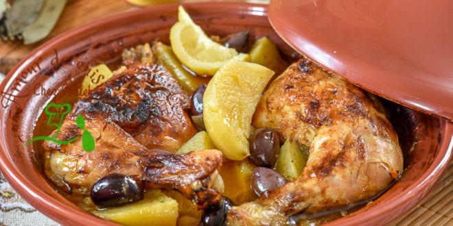 Tajine de poulet à la pomme de terre