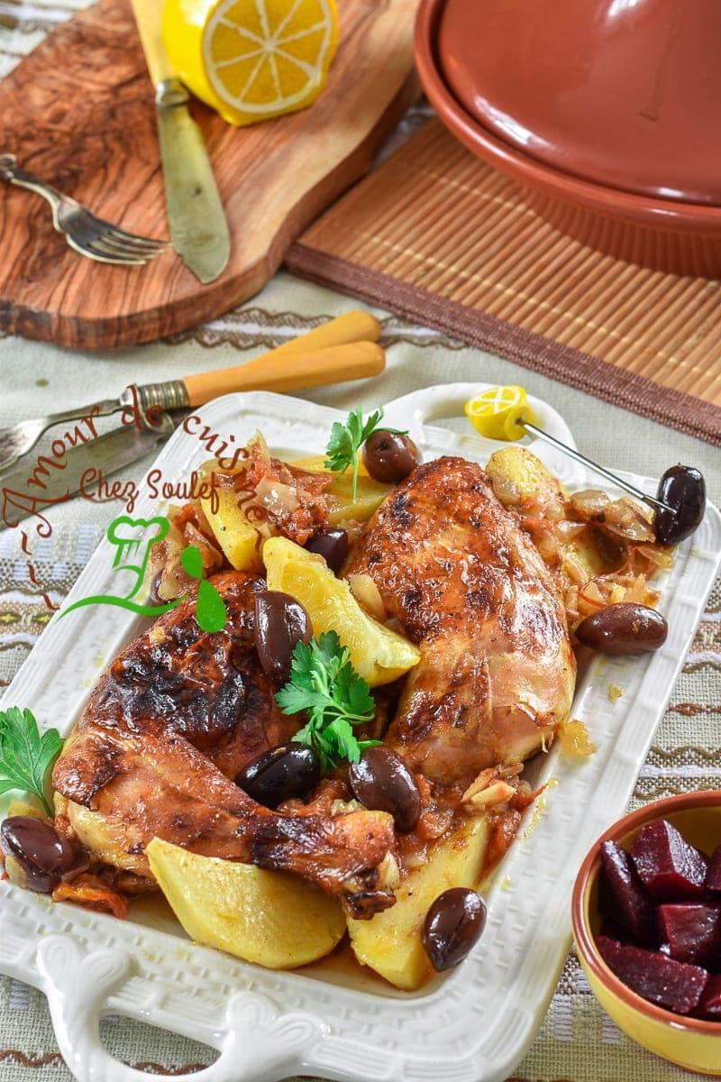 tajine de poulet a la pomme de terre