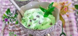 creme glacée à la menthe sans sorbetière