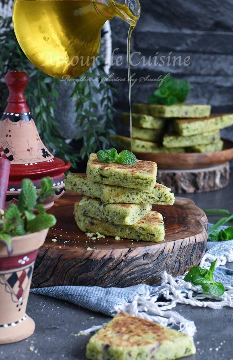 galette kabyle à la menthe