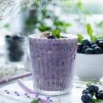 smoothie aux myrtilles