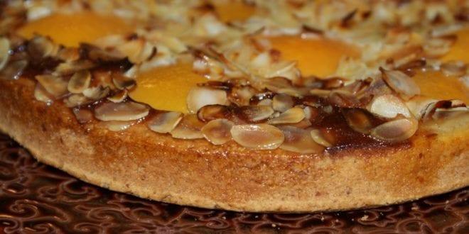 tarte amandine aux peches