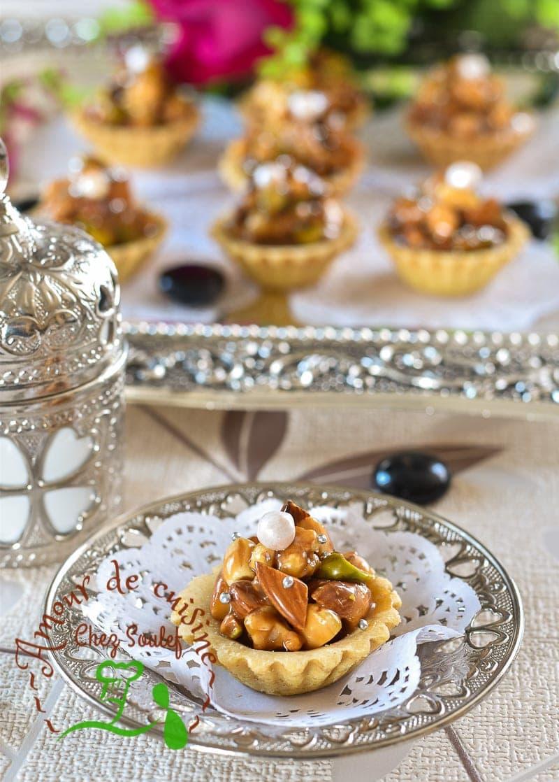 tartelettes aux fruits secs caramel au beurre salé 3