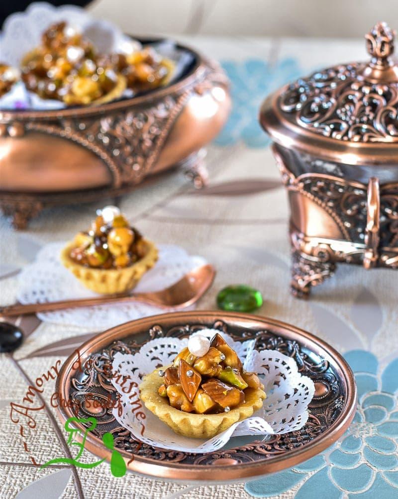 tartelettes aux fruits secs caramel au beurre salé 5