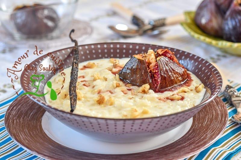 Cr me de riz aux figues roties amour de cuisine for Poudre de riz cuisine