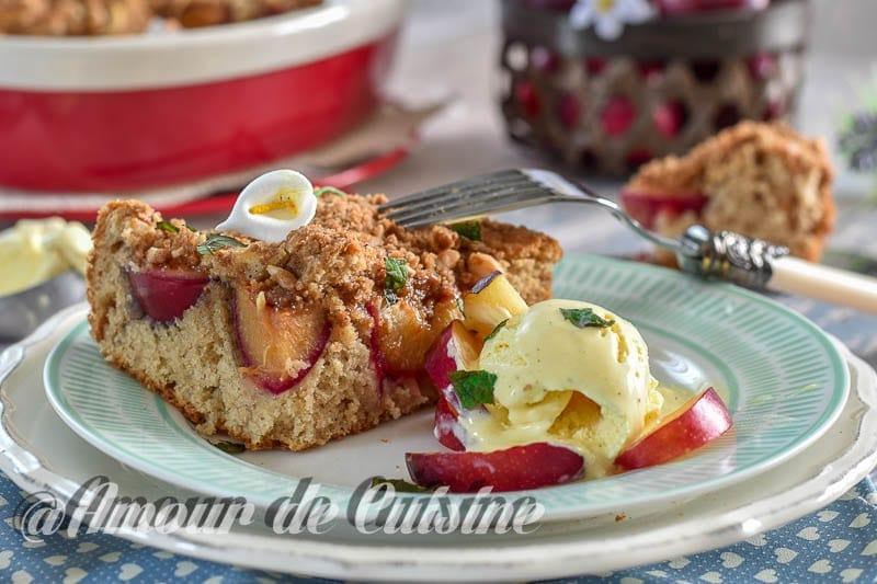 Gateau streusel aux quetsches amour de cuisine - Amour de cuisine gateau sec ...