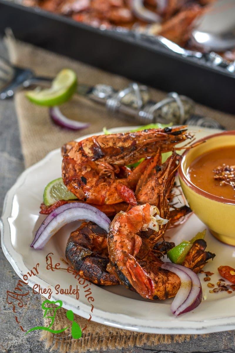crevettes piquantes grill es au four amour de cuisine. Black Bedroom Furniture Sets. Home Design Ideas