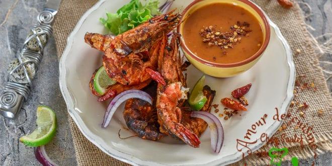 crevettes piquantes grillées au four