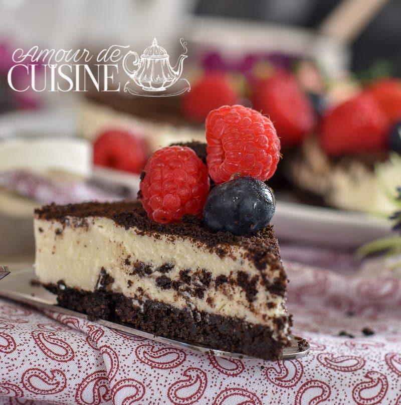 cheesecake oreo sans cuisson - amour de cuisine