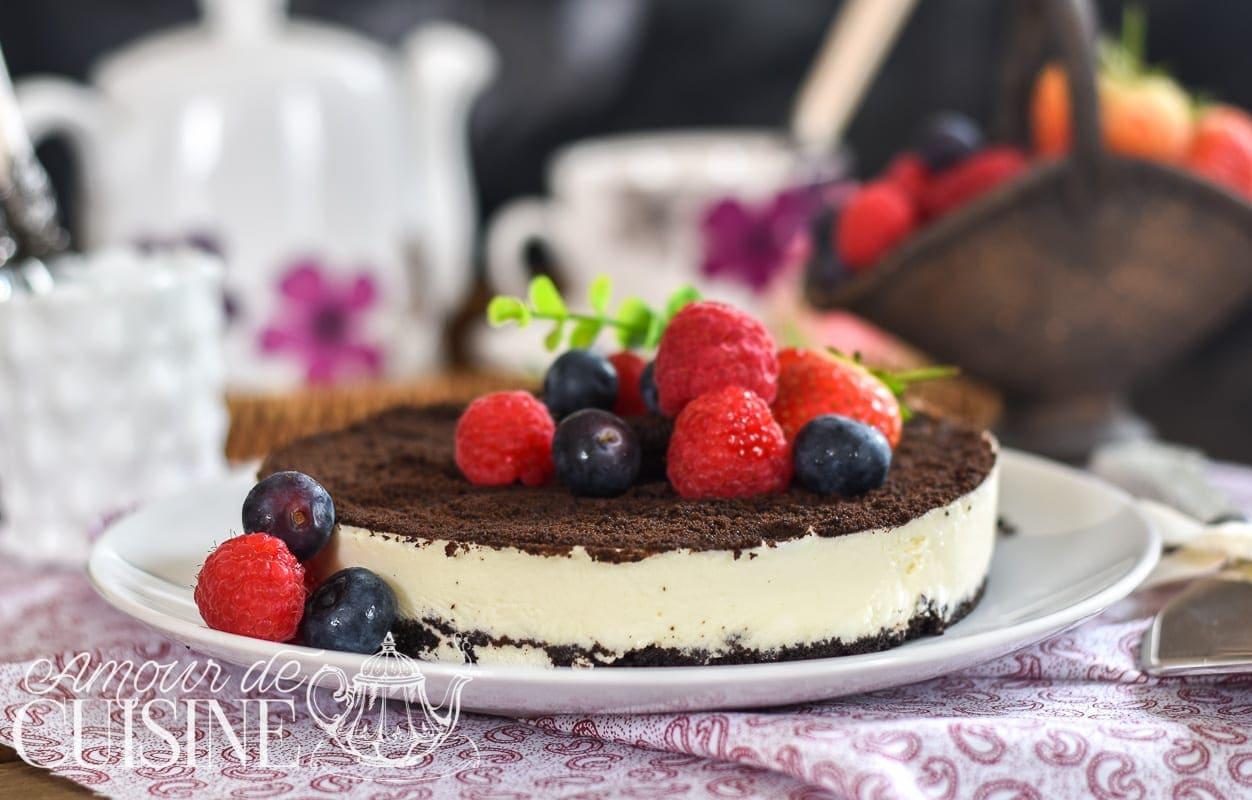 Cheesecake oreo sans cuisson amour de cuisine for Atelier cuisine sans cuisson