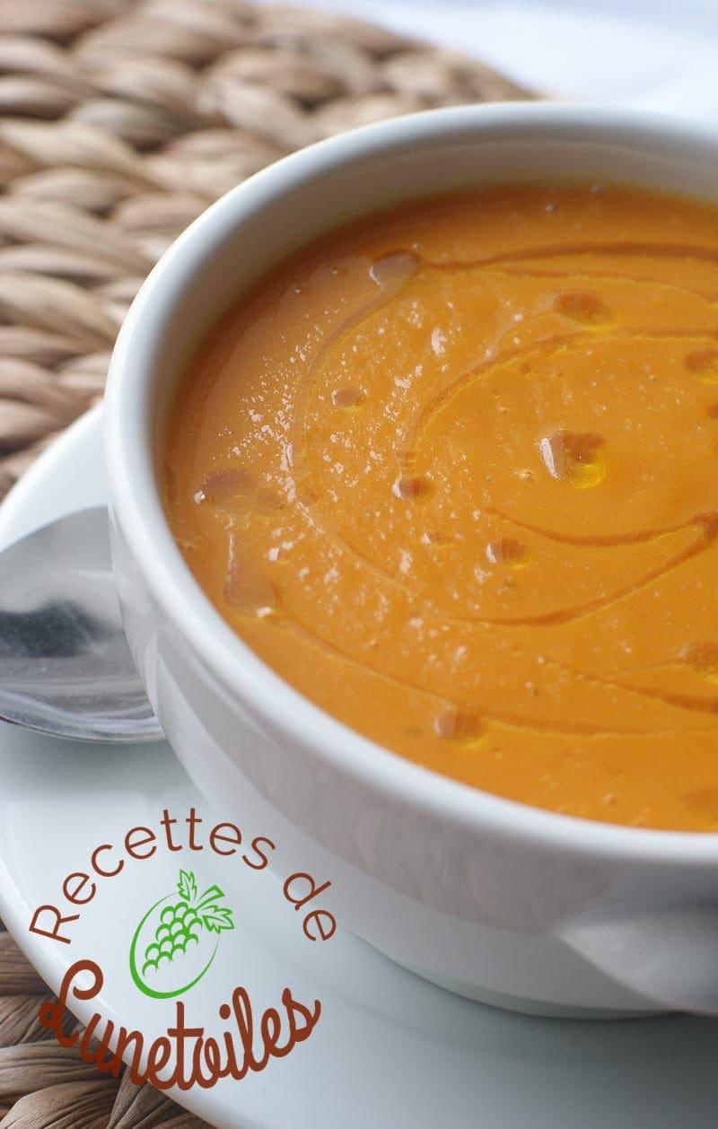 velouté butternut patate douce et carottes