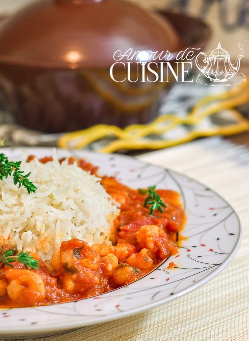 riz aux crevettes en sauce tomate 4