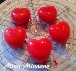 entremet coeur d 39 amour gla age miroir rouge amour de cuisine. Black Bedroom Furniture Sets. Home Design Ideas