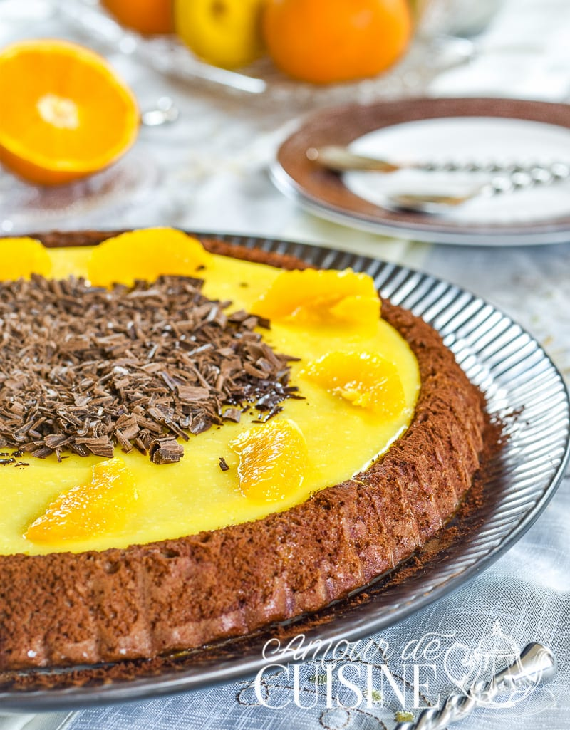 tarte genoise chocolat orange 1