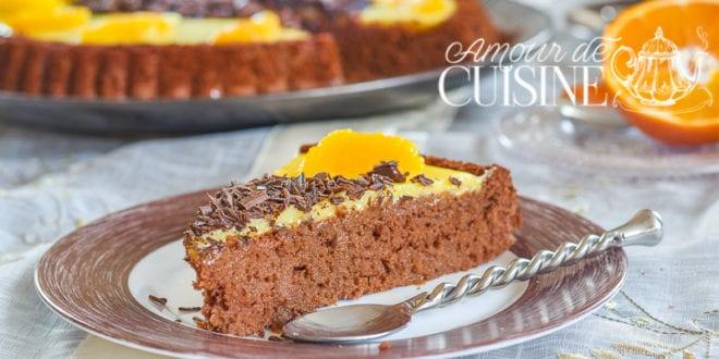 tarte génoise chocolat orange