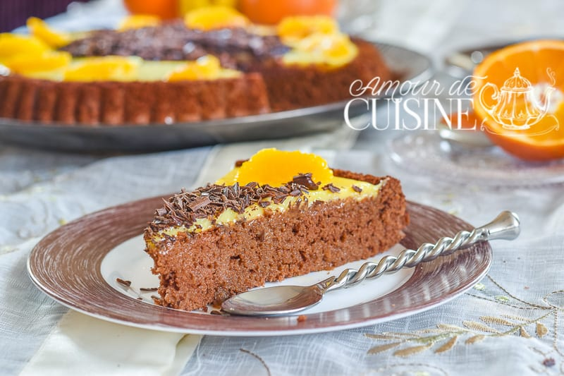 tarte genoise chocolat orange 2