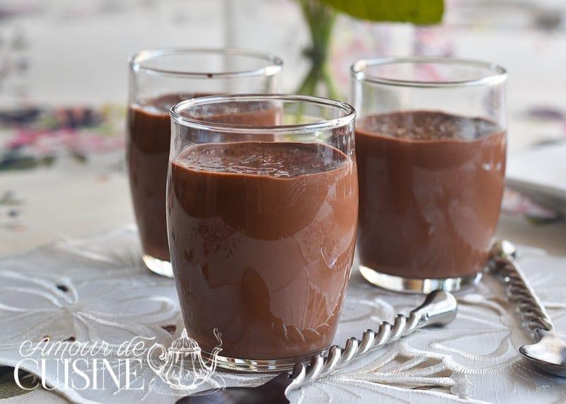 Recette cr me dessert au chocolat fa on danette amour de cuisine - Creme au chocolat maison ...