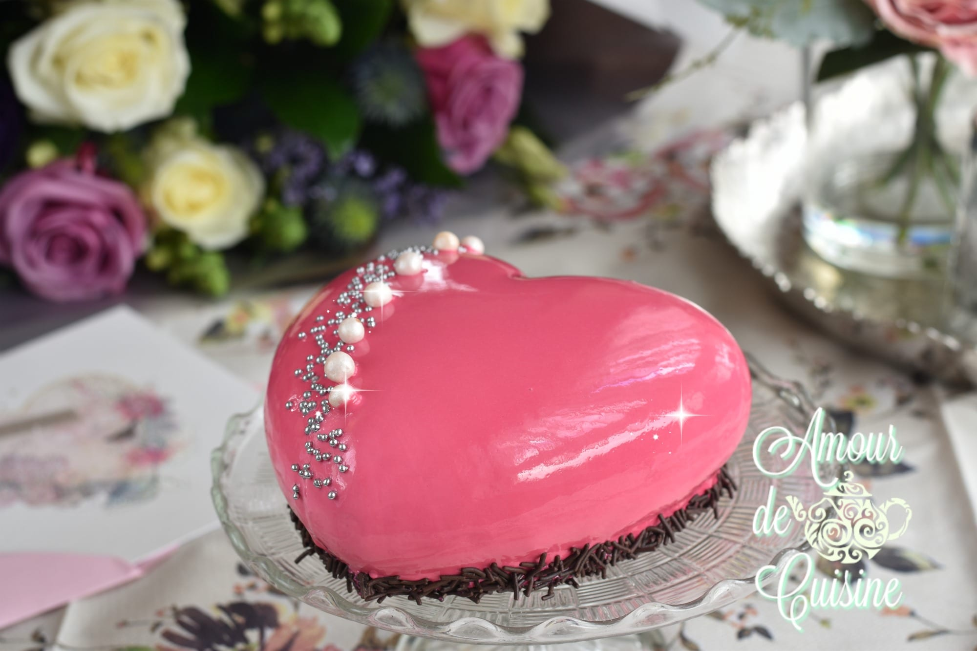 Decoration tarte d anniversaire 28 images les 25 for Amour de cuisine