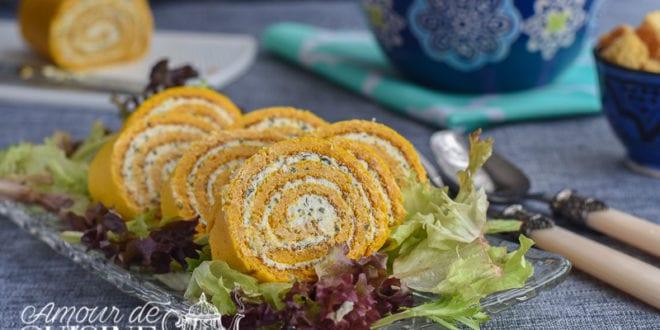 Roul de carottes au boursin amour de cuisine for 1 amour de cuisine chez soulef
