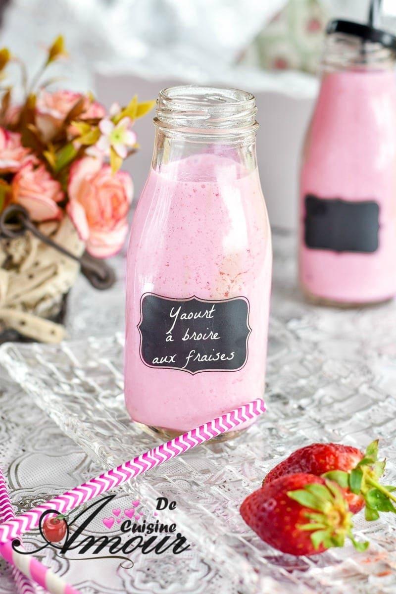 yaourt à boire aux fraises 12