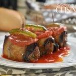 Roulés d'aubergines à la viande hachée 1