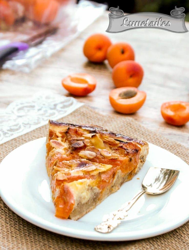 Tarte sablée a l'abricot et amandes