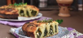 borek turque aux épinards et fromage féta en spirale