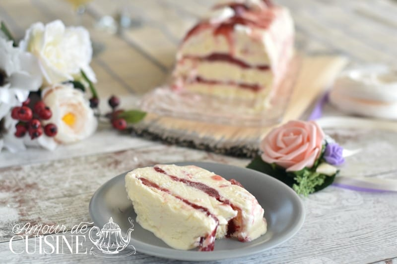 semifreddo à la rhubarbe et fraises 2