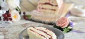 semifreddo à la rhubarbe et fraises