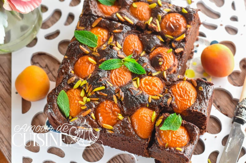 brownie aux abricots 2