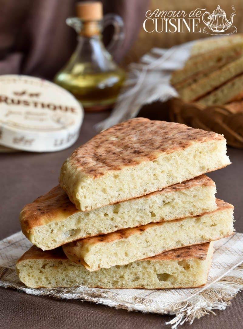 Recette de pain matlouh à la farine sans pétrissage 1