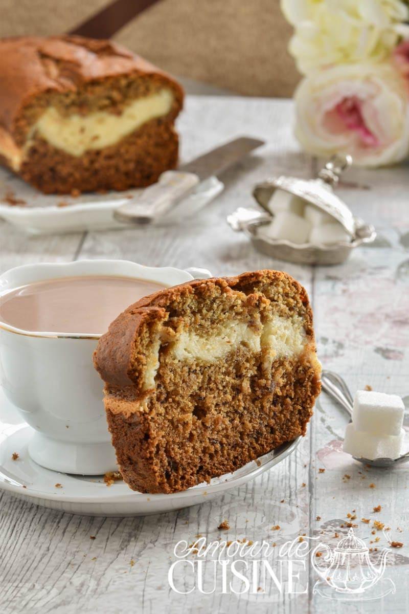 cake marbré banane cheesecake 1