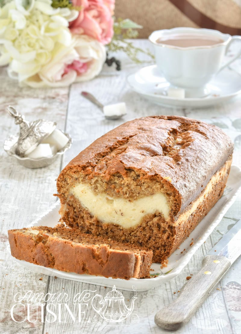 cake marbré banane cheesecake