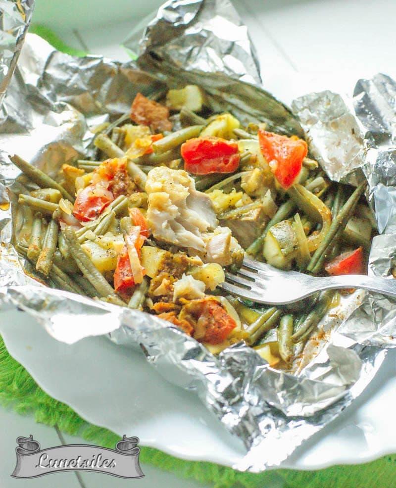papillotes de poissons aux légumes 2