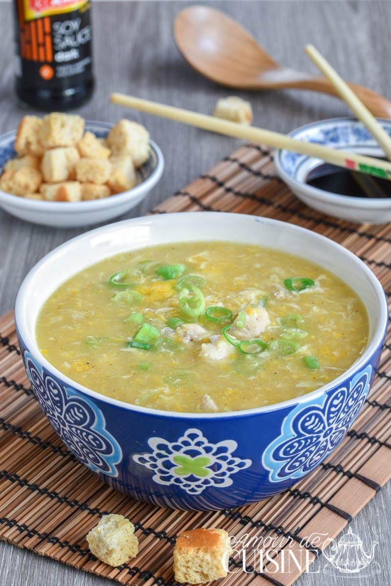 soupe chinoise au poulet et maïs 1